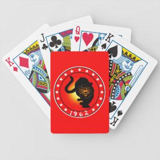 Año del tigre 1962 baraja de cartas