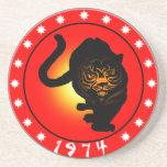 Año del tigre 1974 posavasos personalizados