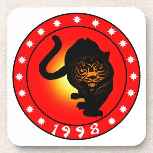 Año del tigre 1998 posavasos de bebida