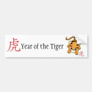 Año del tigre Cutie Pegatina De Parachoque