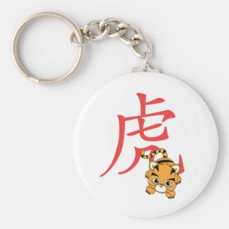 Año del tigre Cutie Llaveros Personalizados