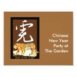 Año del tigre II Invitación 10,8 X 13,9 Cm