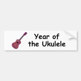 Año del Ukulele Etiqueta De Parachoque