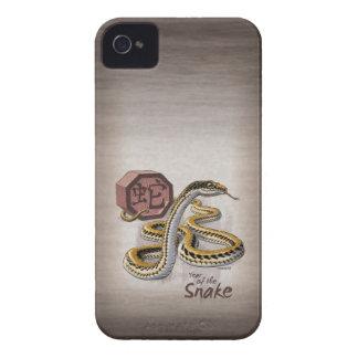 Año del zodiaco del chino de la serpiente iPhone 4 Case-Mate protector