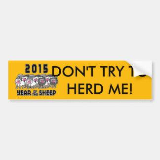 Año divertido de la cabra 2015 del espolón de las pegatina para auto
