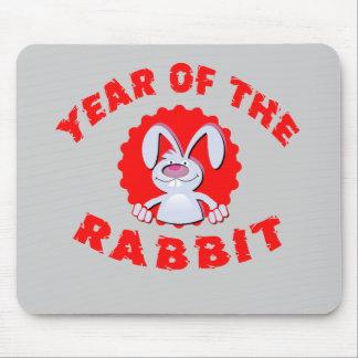 Año divertido del conejo del dibujo animado de los tapetes de ratón