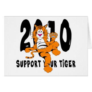 Año divertido del regalo 2010 del tigre tarjeta de felicitación