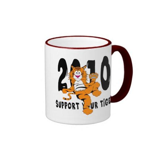 Año divertido del regalo 2010 del tigre tazas