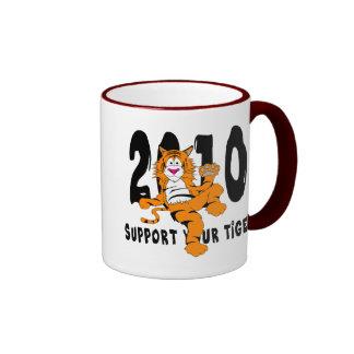 Año divertido del regalo 2010 del tigre taza de dos colores