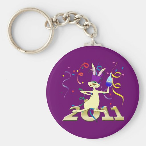 Ano do Coelho 2011 Year of the Rabbit party Basic Round Button Keychain