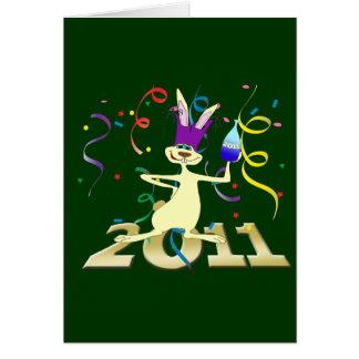 Ano do Coelho 2011 Year of the Rabbit party Greeting Card