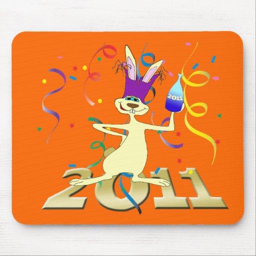 Ano do Coelho 2011 Year of the Rabbit party Mousepad