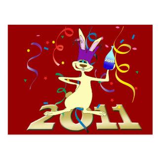 Ano do Coelho 2011 Year of the Rabbit party Postcard