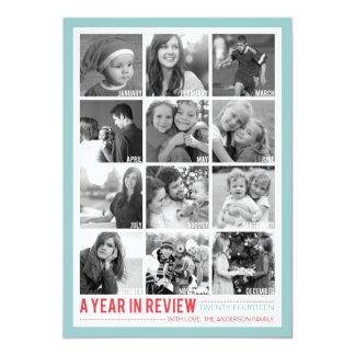 Año en el día de fiesta Photocard del collage de Comunicado Personal
