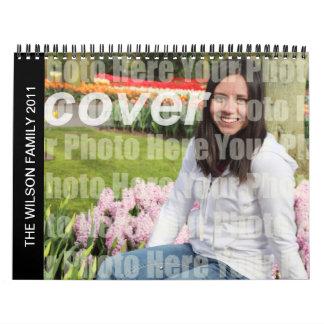 Año en foto de familia de encargo de las imágenes calendarios de pared