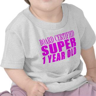 Año estupendo certificado tablero de los camiseta