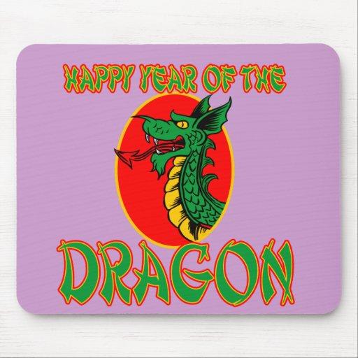 Año feliz de las camisetas del dragón, tazas, bols mouse pad