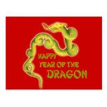 Año feliz de los regalos del dragón postal