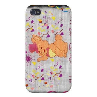 Año feliz del conejo iPhone 4/4S carcasa