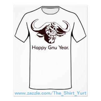 "Año feliz del Gnu Folleto 4.5"" X 5.6"""