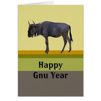 Año feliz del Gnu Tarjeta De Felicitación