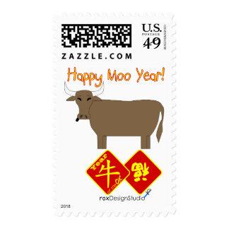 Año feliz del MOO Sello