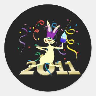 Ano hace a Coelho 2011 años del fiesta del conejo Pegatina Redonda