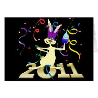 Ano hace a Coelho 2011 años del fiesta del conejo Tarjeta De Felicitación