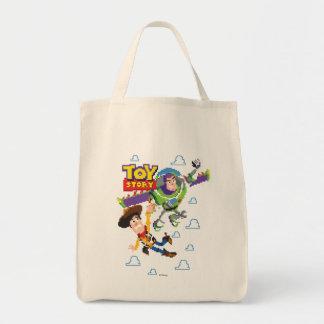 Año ligero de Toy Story 8Bit Woody y del zumbido Bolsa Tela Para La Compra