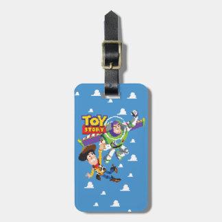 Año ligero de Toy Story 8Bit Woody y del zumbido Etiquetas Para Maletas
