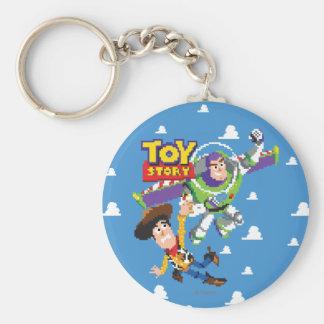 Año ligero de Toy Story 8Bit Woody y del zumbido Llavero Redondo Tipo Pin