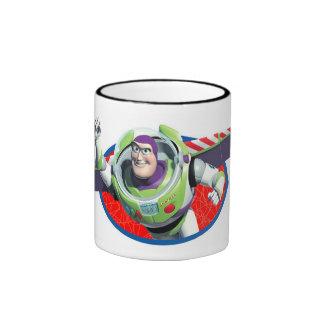 Año ligero del zumbido de Toy Story Tazas De Café
