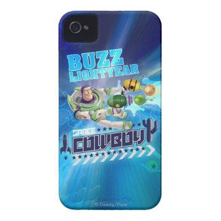 Año ligero del zumbido - vaquero del espacio Case-Mate iPhone 4 protector