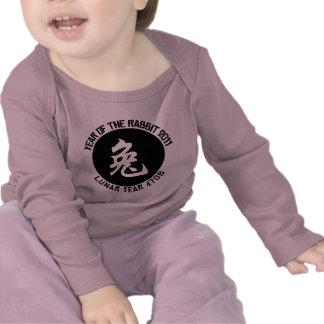 Año lunar 4709 años de la camiseta del conejo
