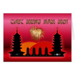 Año lunar vietnamita del Año Nuevo del Moi de Chuc Felicitacion