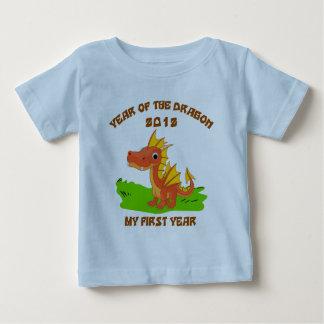 Año nacido de la camiseta 2012 del bebé del dragón polera