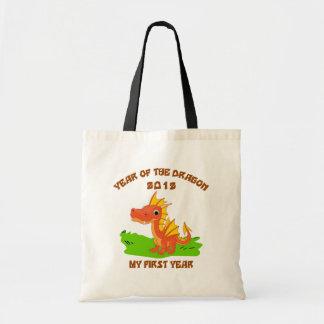 Año nacido del regalo 2012 del bebé del dragón bolsa tela barata