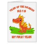 Año nacido del regalo 2012 del bebé del dragón felicitación