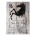 Año negro de madera del fiesta del Año Nuevo del Comunicado Personalizado