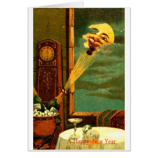 Año Nuevo 1908 de Champán Tarjeta De Felicitación