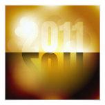 """Año Nuevo 2011 Invitación 5.25"""" X 5.25"""""""