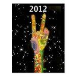 Año Nuevo 2012 del fiesta de la paz Postales