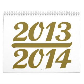 Año Nuevo 2013 2014 Calendario De Pared