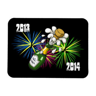 Año Nuevo 2013-2014 Rectangle Magnet