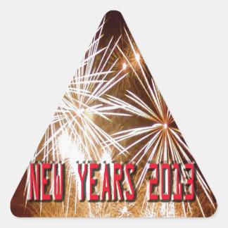 Año Nuevo 2013 Calcomanías Triangulos