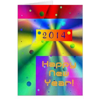 Año Nuevo 2014 collage colorido Tarjetas
