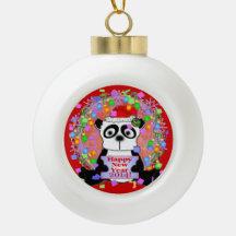 Año Nuevo 2014 de la panda Adornos