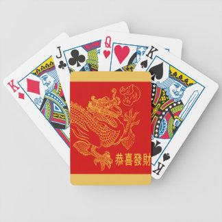 Año Nuevo 2015 del dragón chino rojo del zodiaco Baraja Cartas De Poker