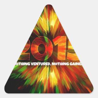 Año Nuevo 2015 Pegatina Triangular