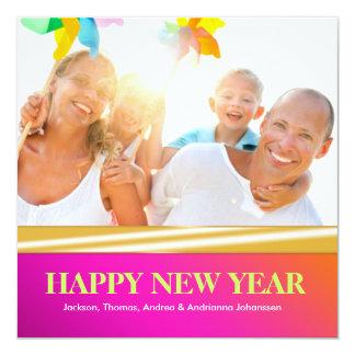 """Año Nuevo 311-Happy - la puesta del sol salvaje se Invitación 5.25"""" X 5.25"""""""